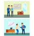 Working task and bad job boss and employee