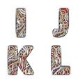 Letters I J K L Set colorful alphabet of vector image