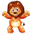 A playful young lion vector image vector image