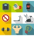 Active lifestyle icons set flat style vector image vector image