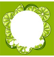 background with limes vector image
