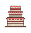 birthday tower pink cake vector image vector image