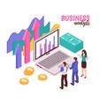 business analyst composition vector image vector image