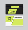business model name card luxury modern black vector image