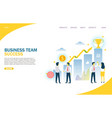 business team success website landing page vector image