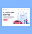 car rent cars rent phone services car sharing or vector image