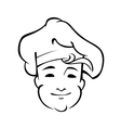 Cheerful country chef with a floppy toque vector image vector image