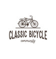 classic bicycle community vintage retro logo vector image vector image