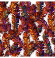 colorful seamless pattern with bright feathers vector image vector image