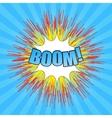 Comic boom wording vector image vector image