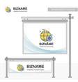company bill board design with bug logo vector image vector image