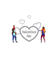 couple in love happy valentines day concept man vector image vector image
