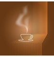cup and steam vector image