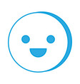 cute smiley face icon vector image vector image