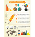 Education infographics design EPS 10 vector image vector image