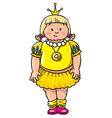 Fat princess vector image vector image