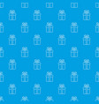 gift box pattern seamless blue vector image vector image