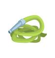 green garden hose agriculture tool cartoon vector image