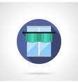 Green lambrequin round flat icon vector image vector image