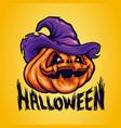 halloween pumpkinheads vector image