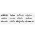 hand drawn sound waves set collection vector image