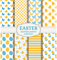 happy easter seamless patterns vector image