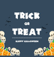 happy halloween design banner pumpkins vector image vector image