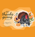 happy thanksgiving day poster vector image vector image