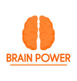 human brain power logo flat style vector image vector image
