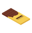 isometric chocolate bar vector image vector image