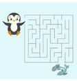 Labyrinth maze find a way kids layout for game vector image vector image