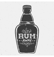 Lets Rum Away Together Abstract Vintage Lettering vector image vector image