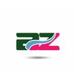 Letter a and z logo vector image vector image