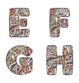 Letters E F G H Set colorful alphabet of vector image