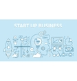 line style design concept start up business vector image vector image