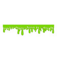 ling green slime icon sticky long line vector image