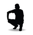 man silhouette posing vector image vector image
