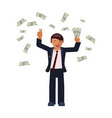 money bills fall vector image
