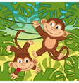 monkey in jungle vector image vector image