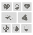monochrome set with Charity and donation icons vector image vector image