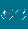 music instruments icons set 06 vector image