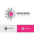 music logo with seven musical notes vector image vector image