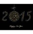 New Year 2015 background vector image vector image