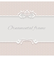 Paper background frame with ornamental vector image vector image