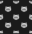 pattern with white cats vector image vector image