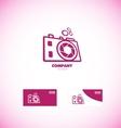 Photography camera aperture logo vector image vector image