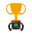 racing chmapionship trophy cup vector image vector image