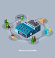 recycling centre isometric composition vector image vector image