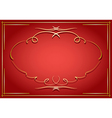 red card with golden decorations vector image vector image