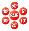 Red Sale Stickers vector image vector image